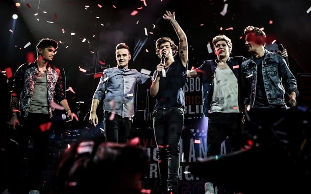 "One Direction during this year's ""Where We Are"" Tour."